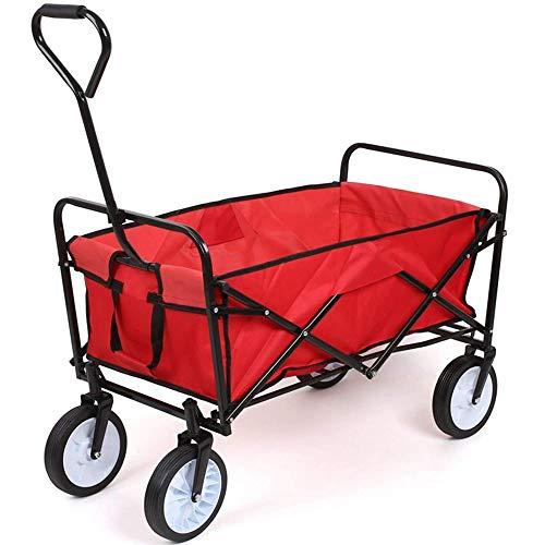 DJM Direct Garden Cart Trolley Foldable Pull Wagon Folding Trolley Camping...