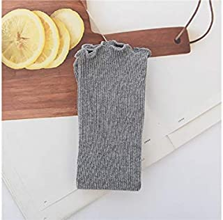 Lovely Socks Children Cotton Socks Kids Spring and Autumn Wooden Ears Side Anti-Slip Mid Tube Socks (White) Newborn Sock (Color : Grey)