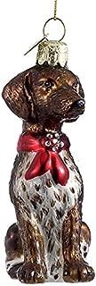 Kurt Adler German Shorthairedbr Pointer with Bow Ornament