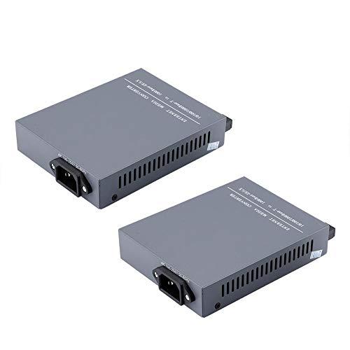 2PCS Gigabit Fibre Media Converter, 10 100   1000M Transceptor óptico bidireccional bidireccional Ethernet de fibra única, RJ45 a SC, compatible con IEEE802.3z   AB 1000Base-T Standard y 1000Base-SX