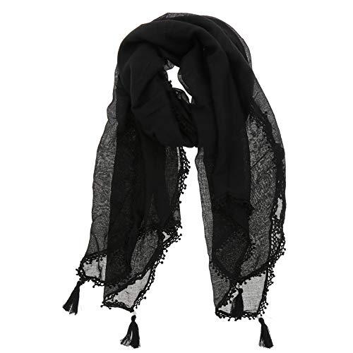 FASHIONGEN - Grande sciarpa scialle moda donna, RETTYP - Nero