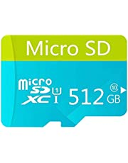 Micro SD Card 512GB High Speed Class 10 Micro SD SDXC Card with Adapter(512GB)