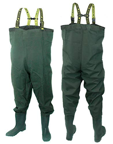 Bison HEAVY DUTY PVC/NYLON CHEST WADERS SIZE 10