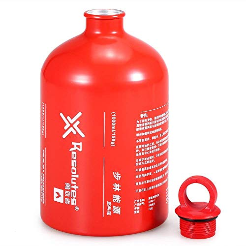 Sanmum Emergency Gas Can Aluminium Fuel Oil Bottle Small Petrol Container for Camping Picnic Barbecue Motorcycle