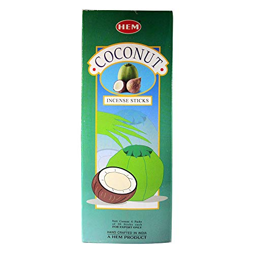 Ourlet Lot de 6 20 gram de noix de coco – Boîte de six 20 gram tubes – Ourlet Encens