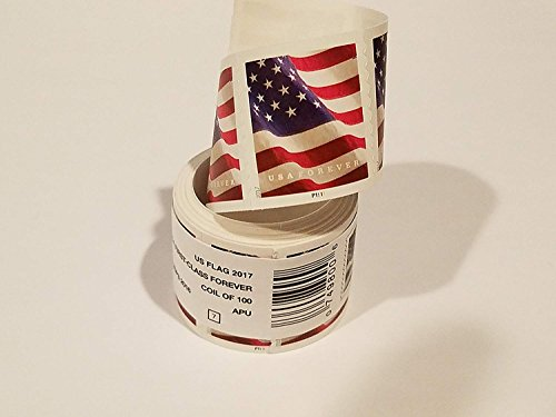 USA Flag 2017 Forever Stamps - Roll of 100.