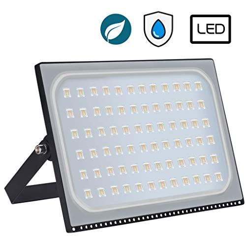Nuitab 500W LED Floodlight Outdoor Security Light, IP65 Waterproof Outdoor Flood Lights Lighting for Yard Warehouse Garden Forecourt Garage, Warm White-500w