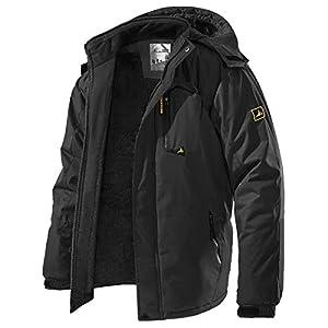 Men's Winter Ski Jacket Warm Fleece Waterproof Outdoor Mountain Hikin...
