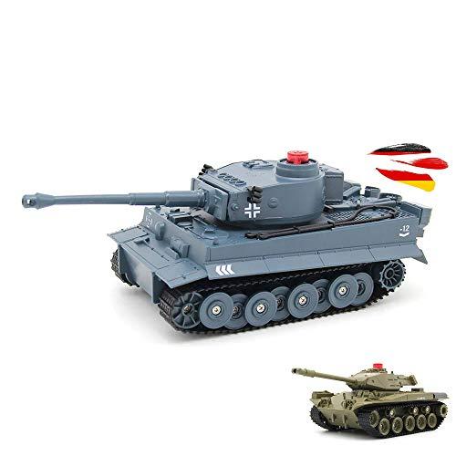 2.4GHz RC ferngesteuerter Panzer Tank Militär-Fahrzeug Modell, Gefechtmodi, Schusssimulation, Sound und Beleuchtung