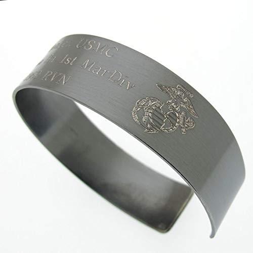 Military boyfriend Gift, Soldier Bracelet, Veteran Bracelet, USMC Bracelet, Army emblem Kia Bracelet with the custom emblem
