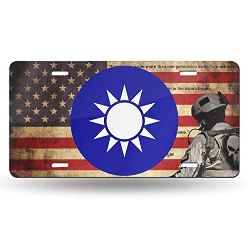 MYGED Außenbeziehungen von Taiwan Wasserdichter Metall-Waschtisch Auto-Nummernschild Metall-Autokennzeichen, Aluminium-Neuheits-Nummernschild, 6 x 12 Zoll