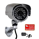VideoSecu 700TVL Bullet Security Camera Built-in 1/3' Effio CCD Weatherproof Day Night 3.6mm Wide View Angle Lens IR Outdoor for CCTV DVR Home Surveillance with Bonus Power Supply A73