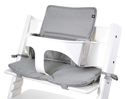 Tinydo® Hochstuhl-Sitzkissen Hellgrau - optimales Zubehör für Stokke Tripp Trapp - Sitzverkleinerer-Kissen mit XXL Dämpfung ohne Verrutschen (Hellgrau)
