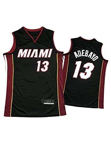 Kfdfns Baloncesto para Hombre 2021 Jersey Miami Heat NBA #13 Bam Adebayo Chaleco Deportivo Transpirable Top Sudadera sin Mangas Camiseta Chaleco Top