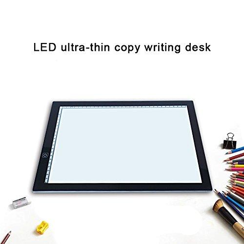 Alaojie - Mesa de Tablet portátil A3 con luz LED