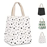 HOMESPON Reusable Lunch Bag Insulated Lunch Box Canvas...