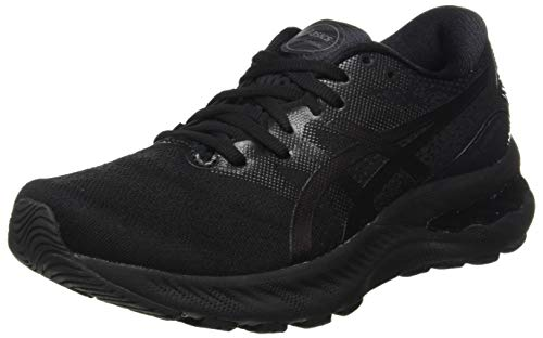 ASICS Women's Gel-Nimbus 23 Road Running Shoe, Black/Black, 7.5 UK