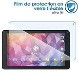 KARYLAX Protection d'écran Film en Verre Nano Flexible Dureté 9H, Ultra Fin 0,2mm et 100% Transparent pour Tablette Danew DSLIDE 1013QC v2 10,1 Pouces