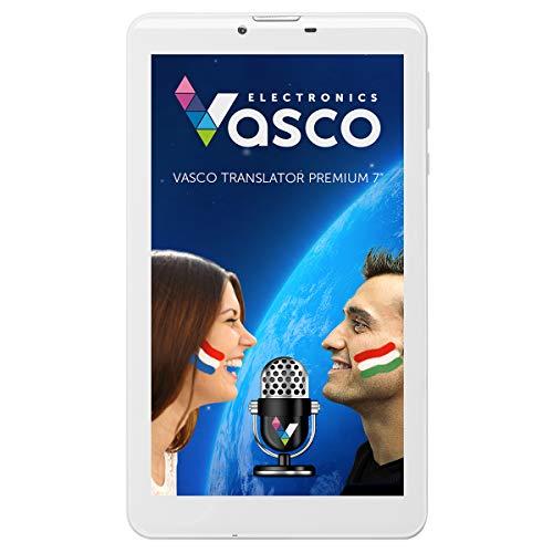 Vasco Translator Premium 7': Elektronischer Übersetzer für +50 Sprachen mit Spracherkennung
