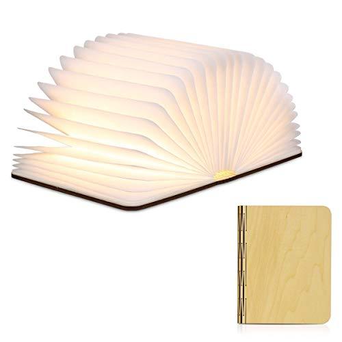 Ledlamp, sfeerlicht, opvouwbaar, in boekvorm, met 2500 mAh batterijen, USB-poort, bedlampje, decoratieve verlichting, warmwit