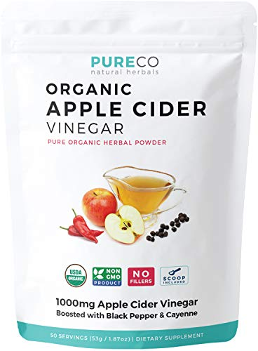 USDA Organic Apple Cider Vinegar (Powder) with Black Pepper + Cayenne for Better...