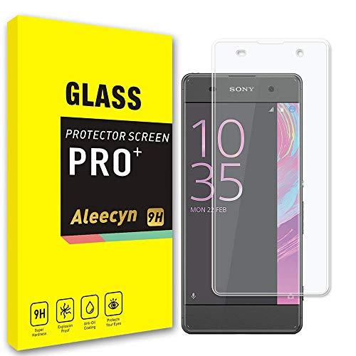 ALEECYN [2 pezzi Cristal Templado para Sony Xperia XA, Dureza 9H, Anti-Rasguño,Fácil de Instalar, Vidrio Templado Protector de Pantalla para Sony Xperia XA