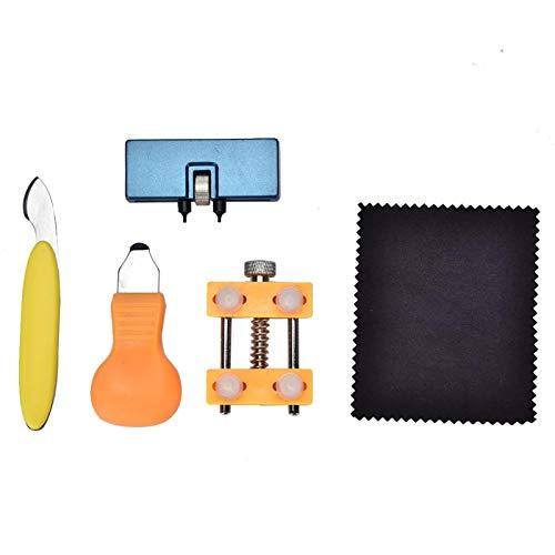 Antióxido 5 Piezas del Kit de Herramientas con Diferentes Funciones Kit de Herramientas de reparación de Relojes de Acero de aleación Herramienta de reparación de Correas de Reloj para