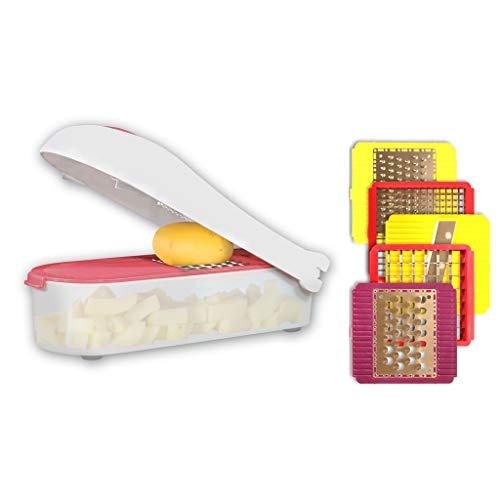 Affetta verdure Durandal | Taglia verdure manuale affettatutto | Affettatrice manuale taglia patate, taglia cipolle, verdure tonde | Accessori cucina