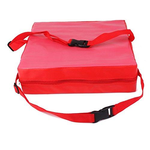 NUOLUX, cuscino imbottito alzasedia per bambini, colore: rosso