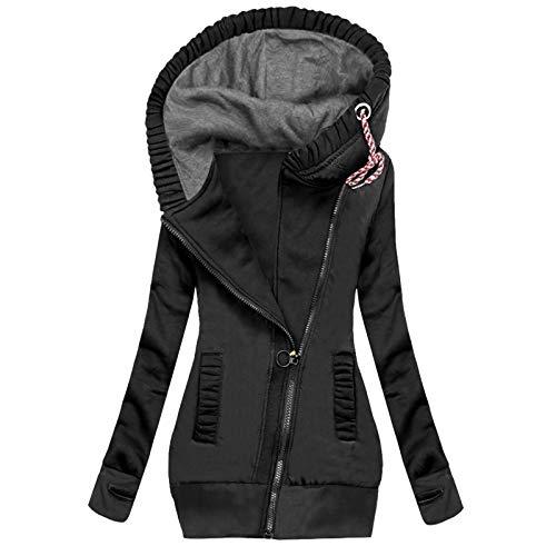 Pianshanzi Manteau d'hiver pour femme - Veste de pluie légère imperméable et respirante - Avec capuche - Veste fine - Grandes tailles - Pour le sport - Convient pour les adultes, F5 noir, XXXL