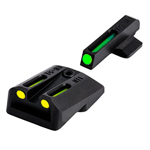 TRUGLO TFO 1911 .260/.450 Set Tritium/Fiber-Optic Sights (Green/Yellow)