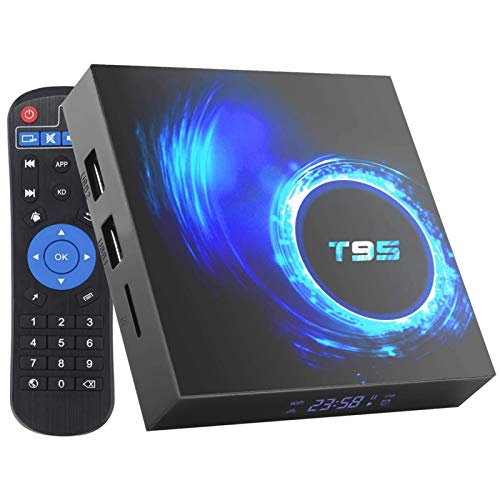 Space element Android 10.0 TV Box,4GB RAM+32GB ROM Android TV Box Allwinner H616 5G STB Soporte WiFi 2.4G/5G, USB T95 Smart TV Box BT5.0,4+32 Dual WiFi+BT[UK]
