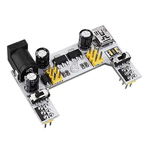 Stromversorgungsmodul, MB102 2 Kanal 3,3V 5V Breadboard Stromversorgungsmodul 3Pcs Weiß Versuchsaufbau gewidmet Power Module MB102 Solderless Brot-Brett