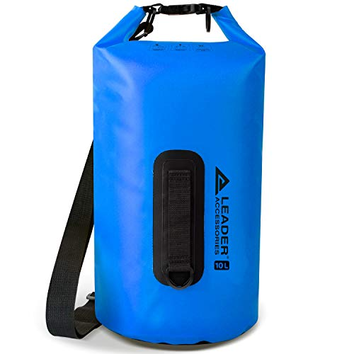 Leader Accessories New 10L Blue Waterproof PVC Dry Bag for Boating...