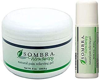 Sombra Warm Therapy Natural Pain Relieving Gel, 8 Oz & Roll On, 3 Oz