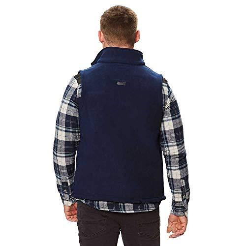 Regatta Men's Radburn Sherpa Backed Micro Fleece Bodywarmer, Navy, L