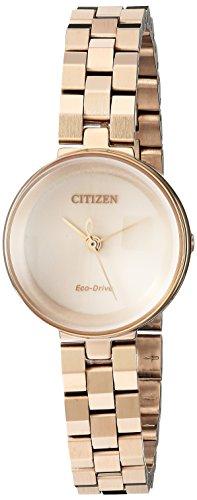 Citizen - Orologio da donna 'Eco-Drive' al quarzo, in acciaio inox, stile casual, colore: oro rosa (modello: EW5503-83X)