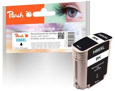 Peach Tintenpatrone schwarz kompatibel zu HP No. 88XL, C9396AE