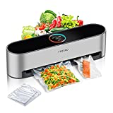 Automatic Vacuum Sealer Machine, FRESKO 5-In-1 Hands-Free Food Sealer for Food Saver, 95Kpa Vacuum Sealer, Dry & Moist Food Modes,Compact Design with 20PC Vacuum seal Bags