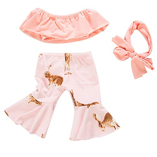 Zeagro Puppenkleidung, trägerloses Oberteil, ausgestellte Hose, Haarband, Anzug, Kleid, Outfit, Kleidungs-Set für 45,7 cm American Girl Puppenanzug, Geschenkzubehör Farbe 5