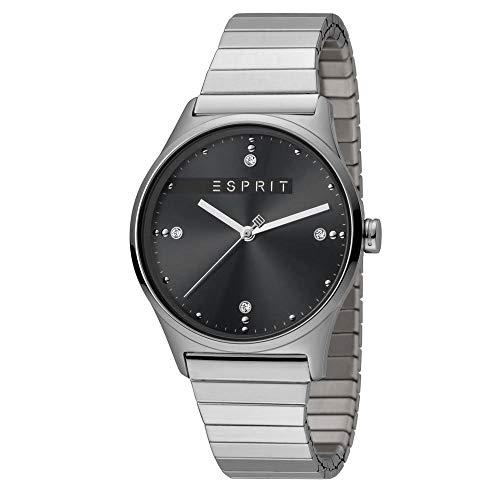 Esprit dameshorloge VinRose Zwart Zilver Matt 3 bar analoog roestvrij staal zilver ES-1L032E0105