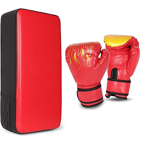 PAKASEPT Boxsets Kinder 3 IN 1 mit Schlagpolster, 6OZ Boxhandschuhe PU Handpratzen Kampfsport Pratze Thai Kick Boxen Pratzen für Boxsack Boxen Kickboxen Boxtraining