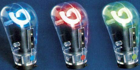 Pommeau de levier de vitesse avec neon - Rouge - NA70 - 12V - 666-CaL ADNAuto