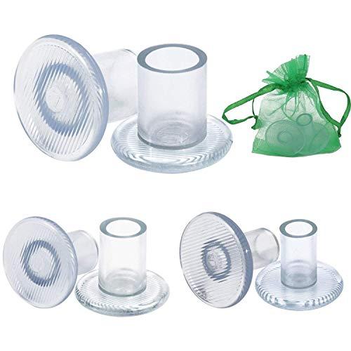 LUTER Protectores de tacón alto, 6 pares de tacones transparentes Protectores, Tacones de tacón de aguja Tapa de tapón de aguja para razas, Bodas, Ocasiones formales