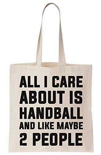 graphke All I Care About Is Handball And Like Maybe 2 People Canvas Tote Bag Tragetasche