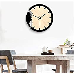 Wall Clock Acrylic Woodpecker Wall Clock Mute Home Decoration Wall Battery Power,Woodpecker