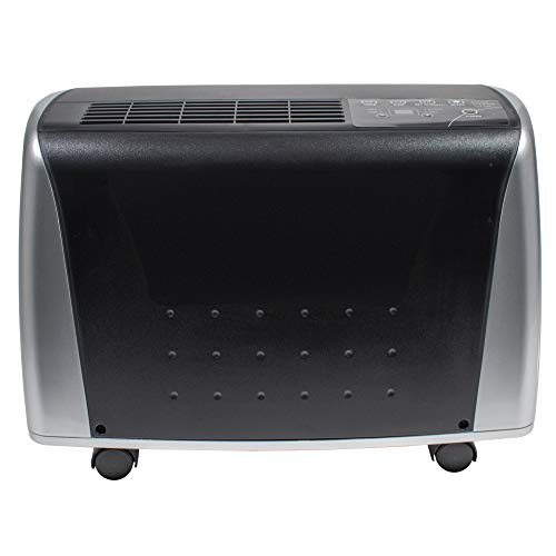 Royal Sovereign 45 Pint Bucketless Dehumidifier, Refurbished, black, silver, '21.3''w x 12.6''d x 15.00''h' (RBDH-45)