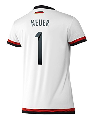 adidas Neuer #1 Germany Home Jersey World Cup 2015 (Women) (L) White