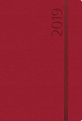 Agenda Struktur bordeaux L 312019 2019: Terminplaner groß. DIN A5 Terminkalender Ringbuch mit Wochenkalender, Gummiband und Jahresplaner 2019/2020