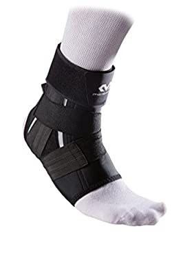 McDavid 461 Foot Ankle Support with precision straps, Lightweight and Compressive for Relief from Ankle Injuries, Pain, and Swelling, Left and Right, Right- M, BLACK